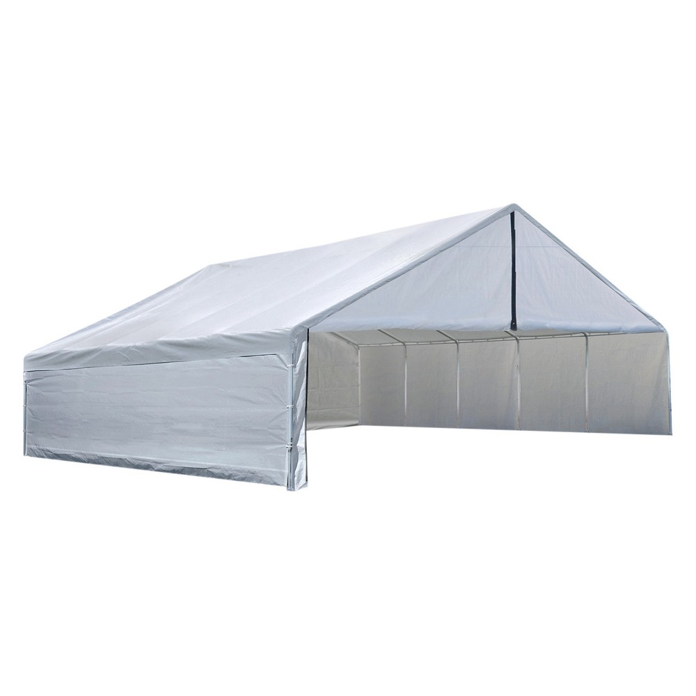 Ultra Max 30' X 40' Industrial Canopy Enclosure Kit Fits 2 3, 8 Frame - White - Shelterlogic
