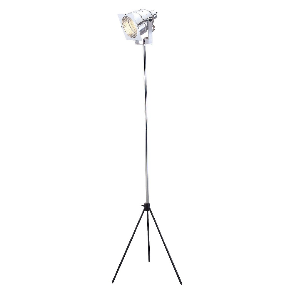 Image of Adesso Spotlight Floor Lamp - Silver/Black