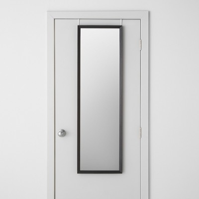 Bevel Profile Over the Door Mirror Black 15.5 x 52  - Made By Design™