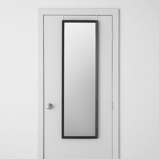 """Bevel Profile Over the Door Mirror Black 15.5""""x 52"""" - Made By Design™"""