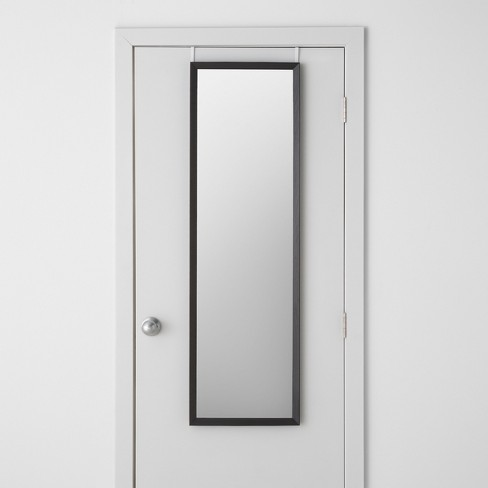 "Bevel Profile Over the Door Mirror Black 15.5""x 52""  - Made By Design™ - image 1 of 3"