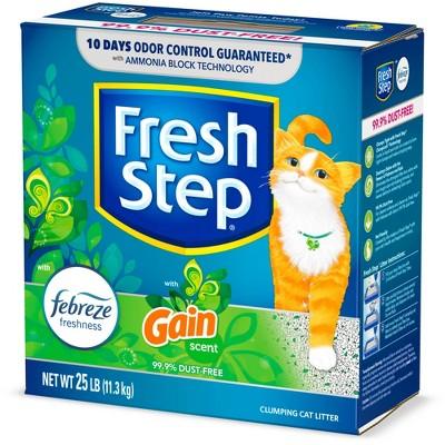 Fresh Step Febreze and Gain Cat Litter - 25lb