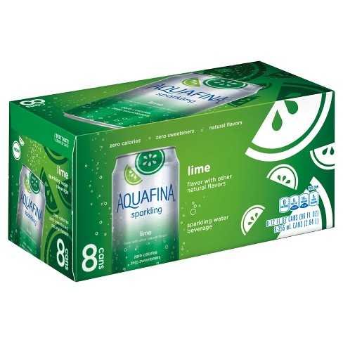 Aquafina Sparkling Lime - 8pk/12 fl oz Cans - image 1 of 1