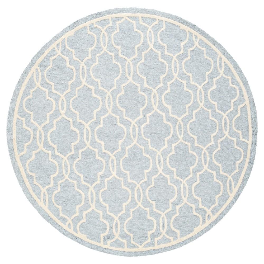 Langley Textured Rug - Light Blue / Ivory (6' X 6' Round) - Safavieh, Light Blue/Ivory