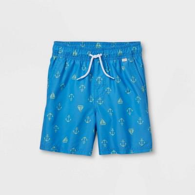 "Boys' Anchor 15"" Swim Trunks - Cat & Jack™ Blue"