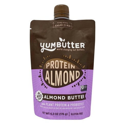 Yumbutter Plant Protein Almond Butter Pouch - 6.2oz - image 1 of 4