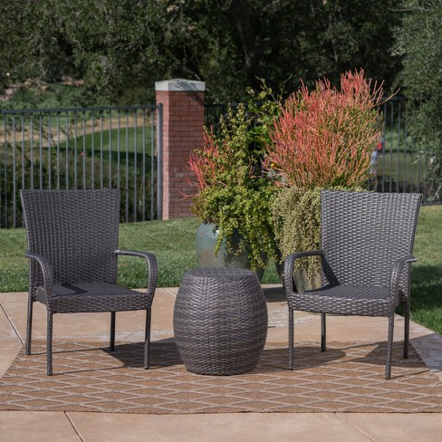 Orleans 3pc Wicker Chat Set - Christopher Knight Home - image 1 of 4