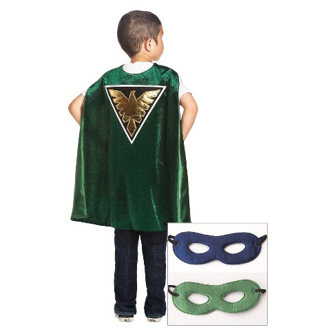 Little Adventures Green Hero Cape With Hero Mask Navy/Green - image 1 of 1