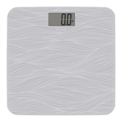 Square Glass Digital Bath Scale Gray - Escali