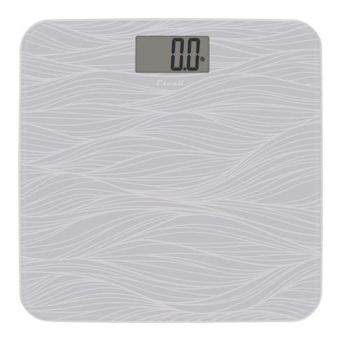 90829fa0cd0b Square Glass Digital Bath Scale Gray - Escali