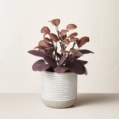 """7.75"""" Mini Faux Maroon Potted Plant - Hearth & Hand™ with Magnolia"""