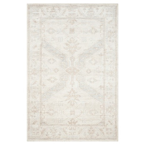 Beige/Blue Abstract Knotted Area Rug - (4'x6') - Safavieh - image 1 of 4
