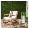 Vernon Rocking Chair - Teak Brown / Beige - Safavieh - image 3 of 3