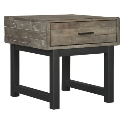 Mondoro Square End Table Taupe - Signature Design by Ashley