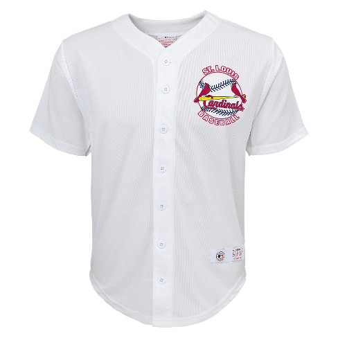 reputable site 1fa67 e0a18 St. Louis Cardinals Boys' Yadier Molina Jersey White XS