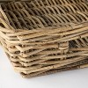 "17"" x 5.5"" Decorative Rattan Tray with Handles Gray - Threshold™ designed with Studio McGee - image 3 of 4"