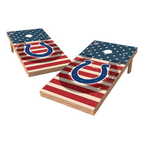 NFL Indianapolis Colts Wild Sports 2x4 Tailgate Toss Cornhole Shield - Stars and Stripes - image 1 of 3