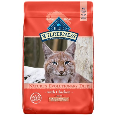 Blue Buffalo Wilderness Grain Free Indoor Hairball & Weight Control with Chicken Adult Premium Dry Cat Food