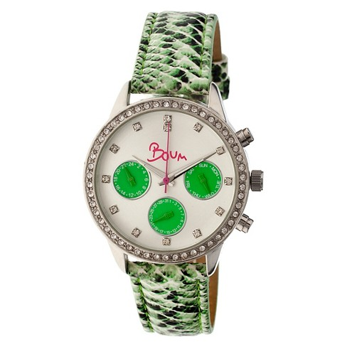 Women's Boum Serpent Watch with Crocodile-Embossed Genuine Leather Strap-Mint - image 1 of 3
