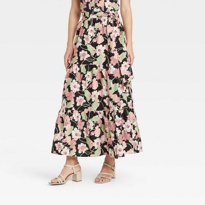Women's Floral Print Wrap Maxi Skirt - Who What Wear™