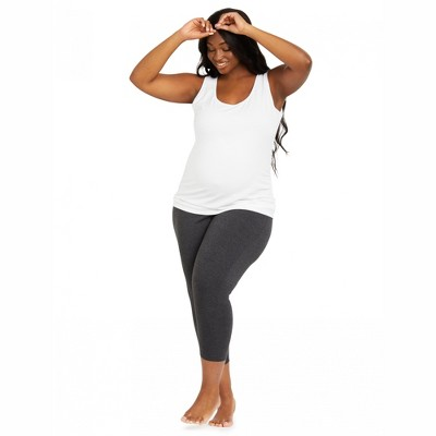 Motherhood Maternity   Plus Size Essential Stretch Secret Fit Belly Maternity Cropped Leggings