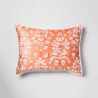 Standard Ikat Tufted Velvet Sham Coral - Opalhouse™