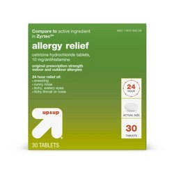 Cetirizine Hydrochloride Allergy Relief Tablets - Up&Up™