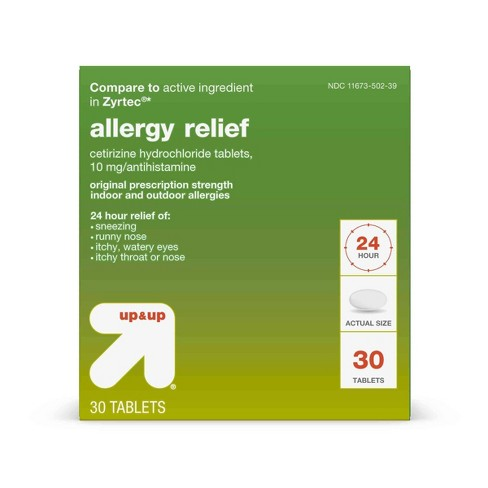 Cetirizine Hydrochloride Allergy Relief Tablets - Up&Up™ (Compare to active ingredient in Zyrtec) - image 1 of 6
