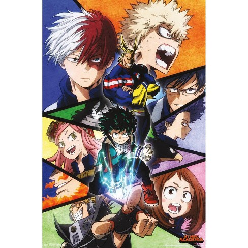 """34""""x23"""" My Hero Academia Faces Unframed Wall Poster Print - Trends International - image 1 of 2"""