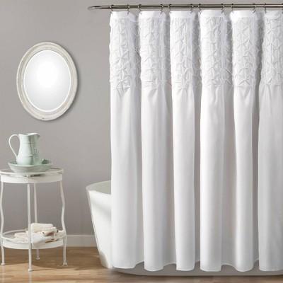 Bayview Shower Curtain Bleach White - Lush Décor