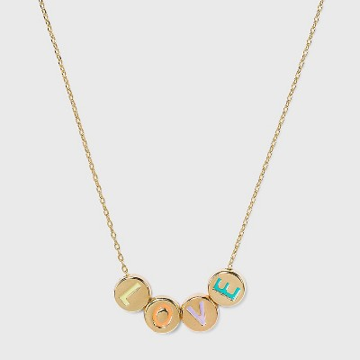 SUGARFIX by BaubleBar Inspiring Words Delicate Chain Necklace
