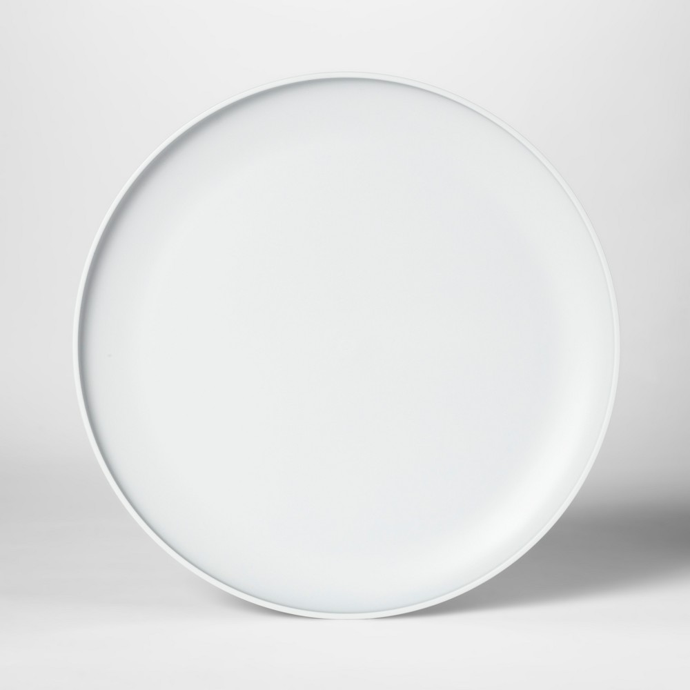 "Image of ""10.5"""" Plastic Dinner Plate Gray - Room Essentials"""