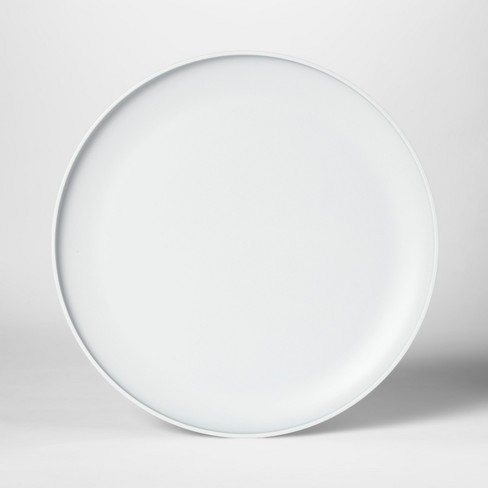"10.5"" Plastic Dinner Plate Gray - Room Essentials™ - image 1 of 4"
