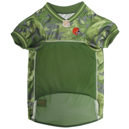 NFL Pets First Camo Pet Football Jersey - Cleveland   Target 4bc0aa15f