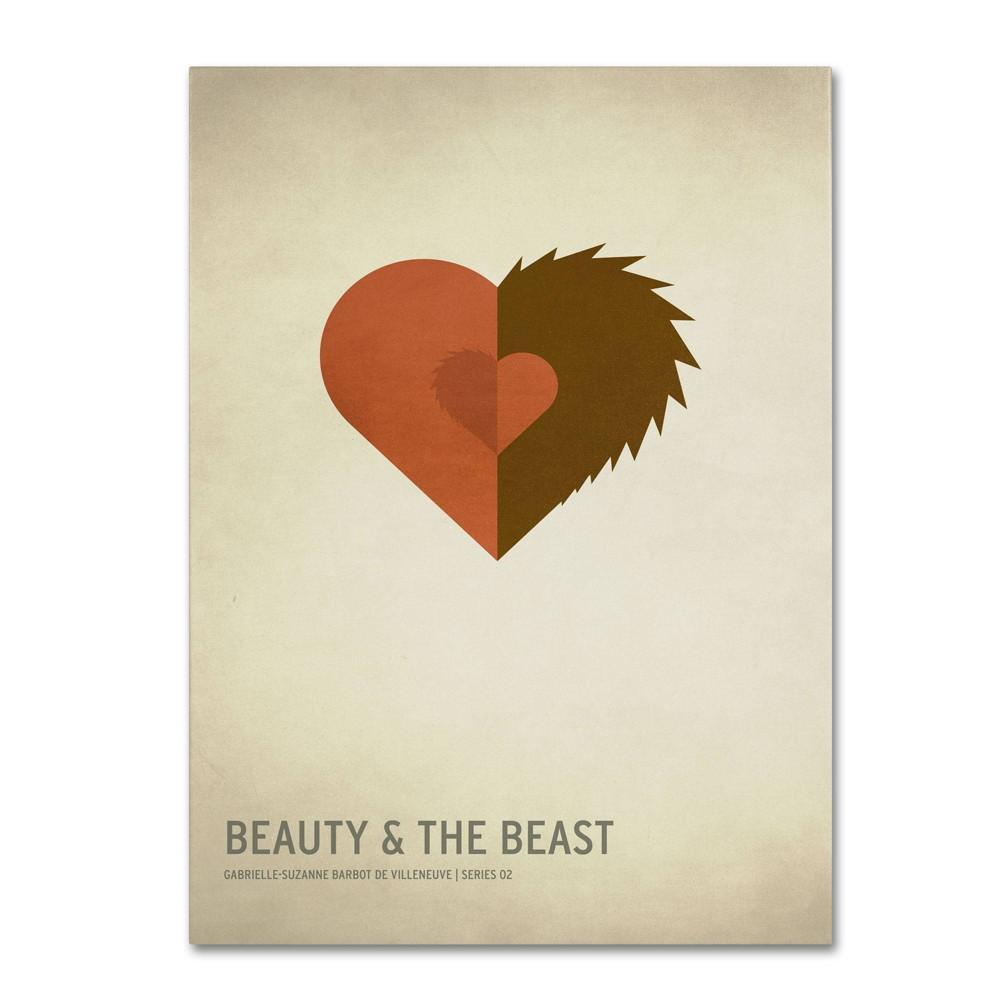 16 34 X 24 34 Beauty And The Beast By Christian Jackson Trademark Fine Art