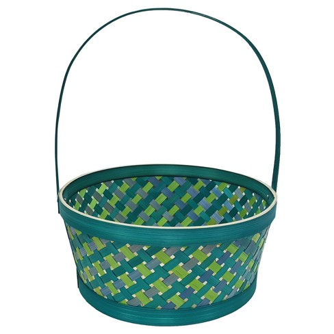 Easter Green Bamboo Weave Basket - Spritz™ - image 1 of 1