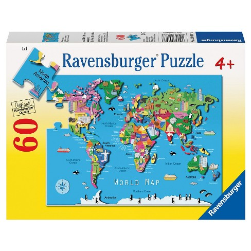 Ravensburger World Map Puzzle 60pc : Target