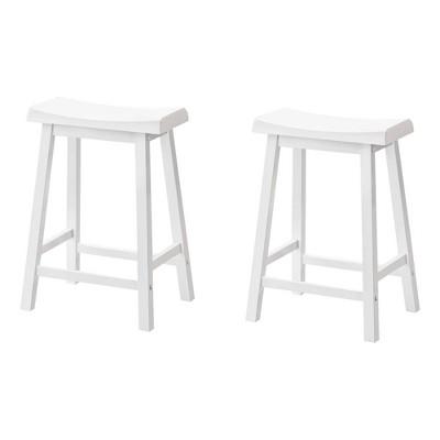 """24"""" Saddle Seat Barstool White - EveryRoom"""
