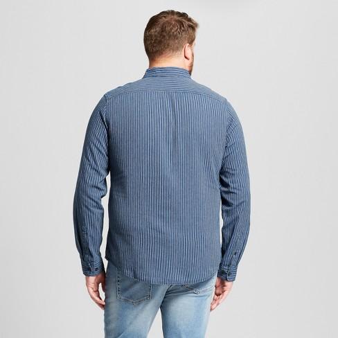 Men S Big Tall Striped Standard Fit Long Sleeve Target
