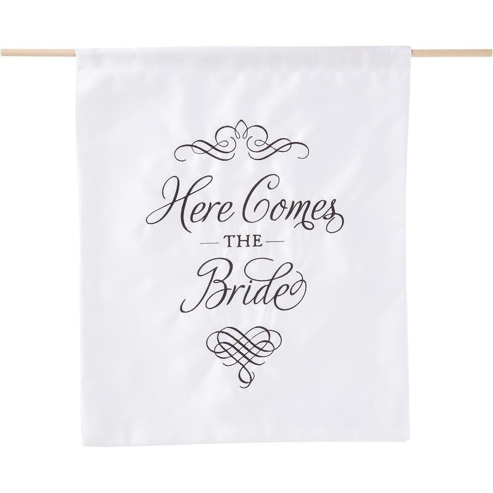 Here Comes the Bride White Sign - Spritz