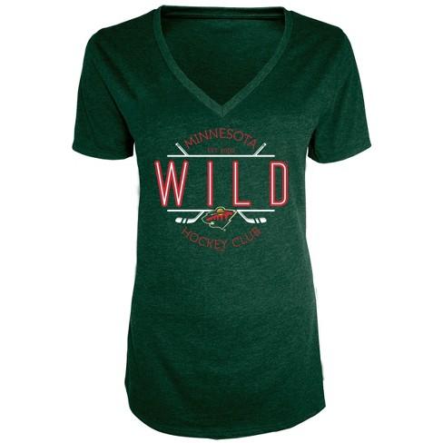 NHL Minnesota Wild Women s Blade V-Neck T-Shirt   Target 679a07d76d