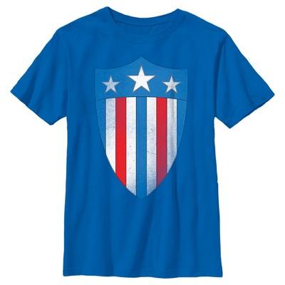 Boy's Marvel Avengers Captain America USO Shield T-Shirt