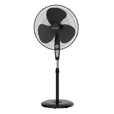 """Climature 18"""" Oscillating Stand Fan With Remote Control Black"""