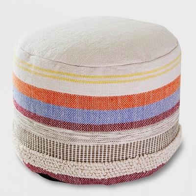 Woven Stripe Outdoor Pouf - Opalhouse™
