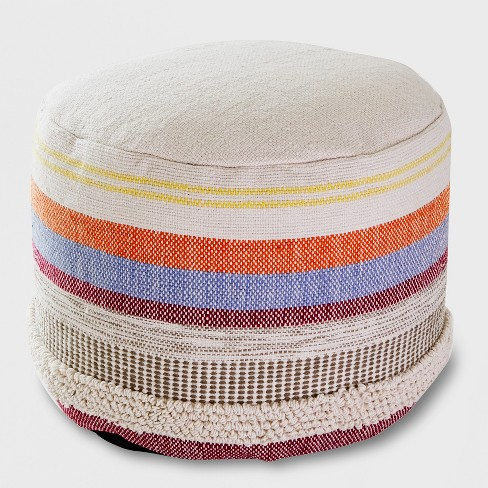 Woven Stripe Outdoor Pouf - Opalhouse™ - image 1 of 2