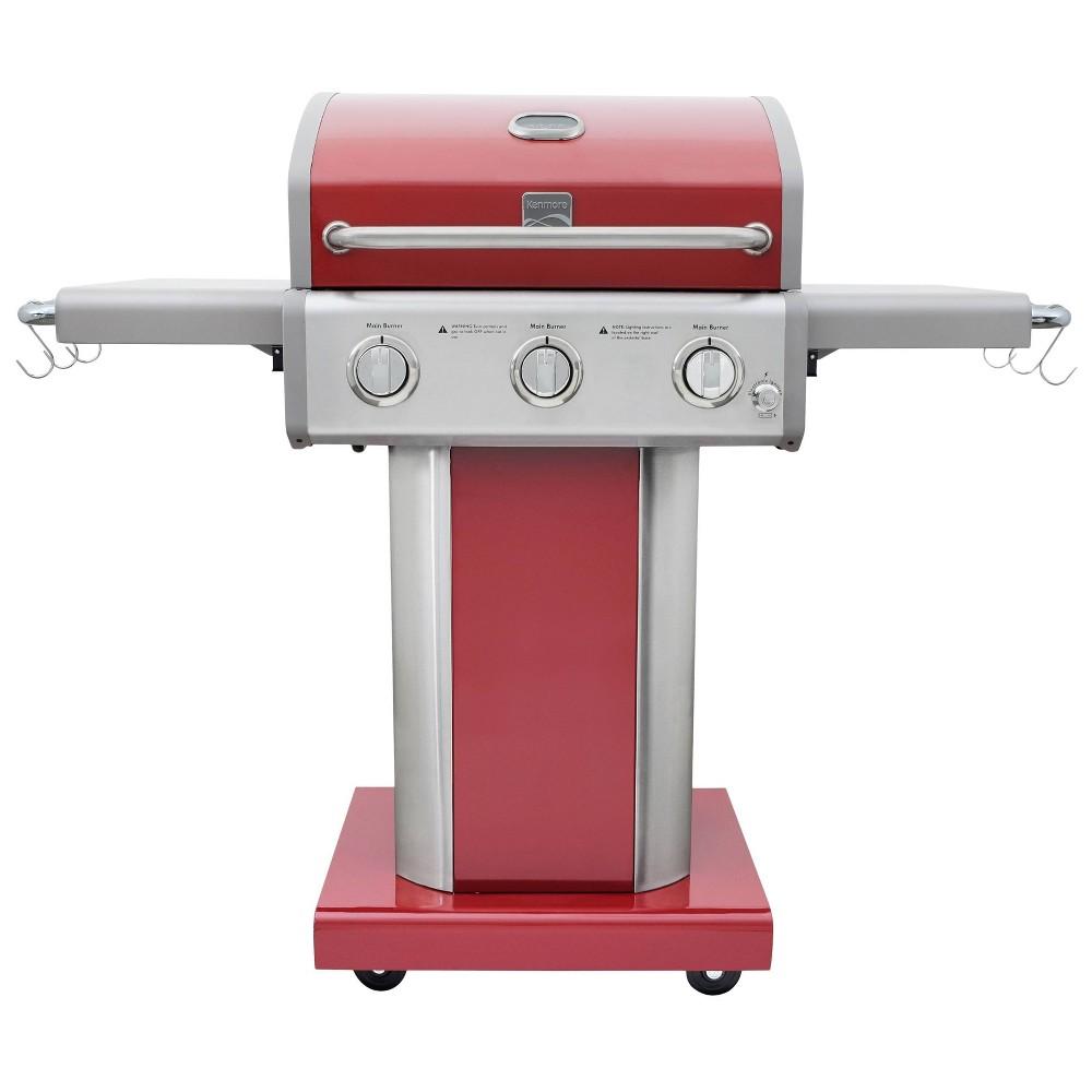 Kenmore 3-Burner Outdoor Patio Gas BBQ Propane Grill PG-4030400LD-RD Red Kenmore 3-Burner Outdoor Patio Gas BBQ Propane Grill PG-4030400LD-RD Red