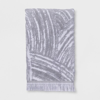 Woodgrain Fan Hand Towel Gray - Project 62™