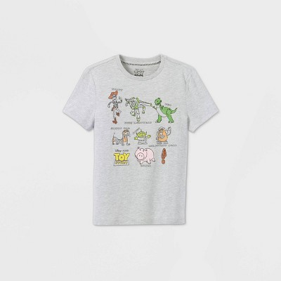 Boys' Disney Toy Story Short Sleeve Graphic T-Shirt - Gray - Disney Store