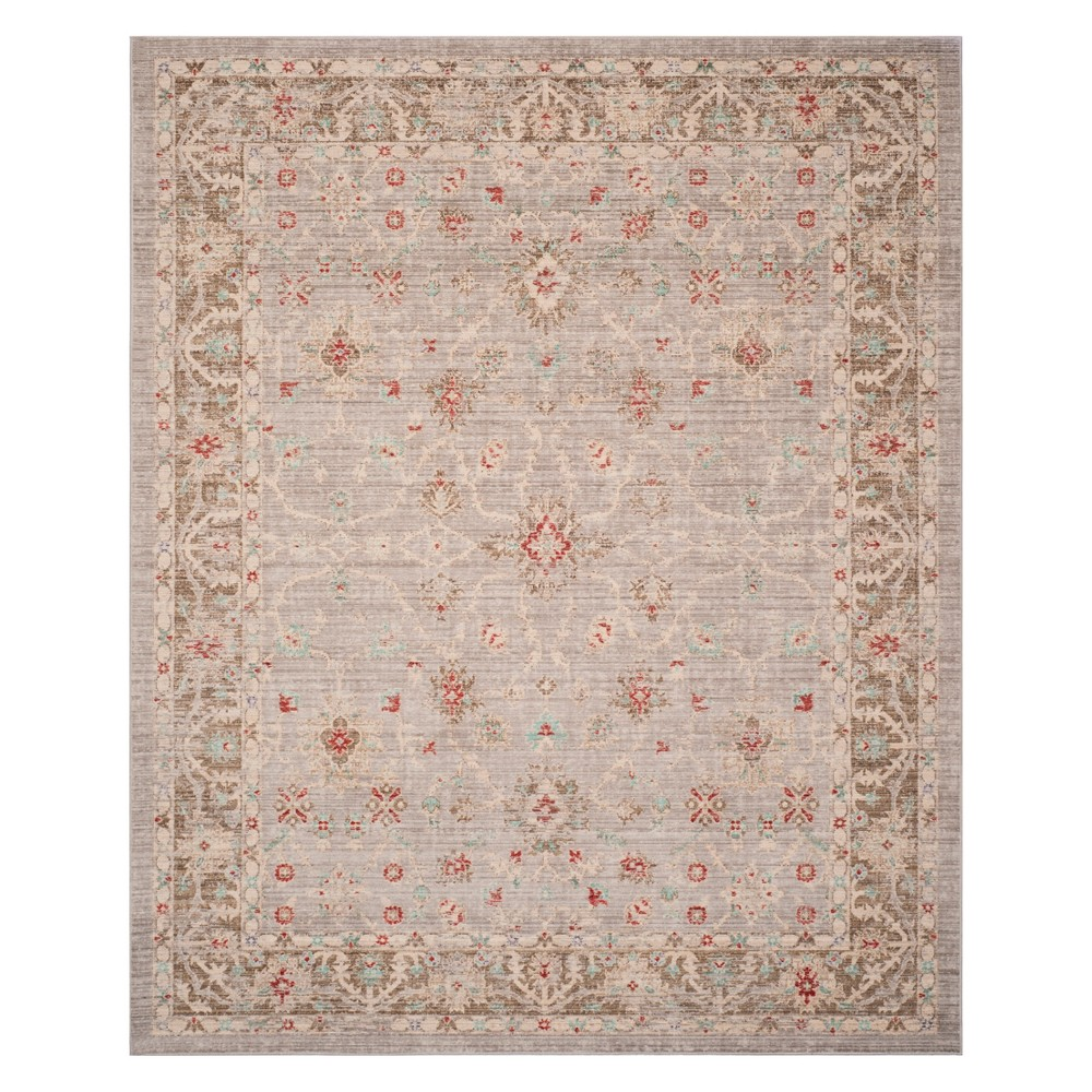 8'X10' Shapes Loomed Area Rug Light Gray/Brown - Safavieh