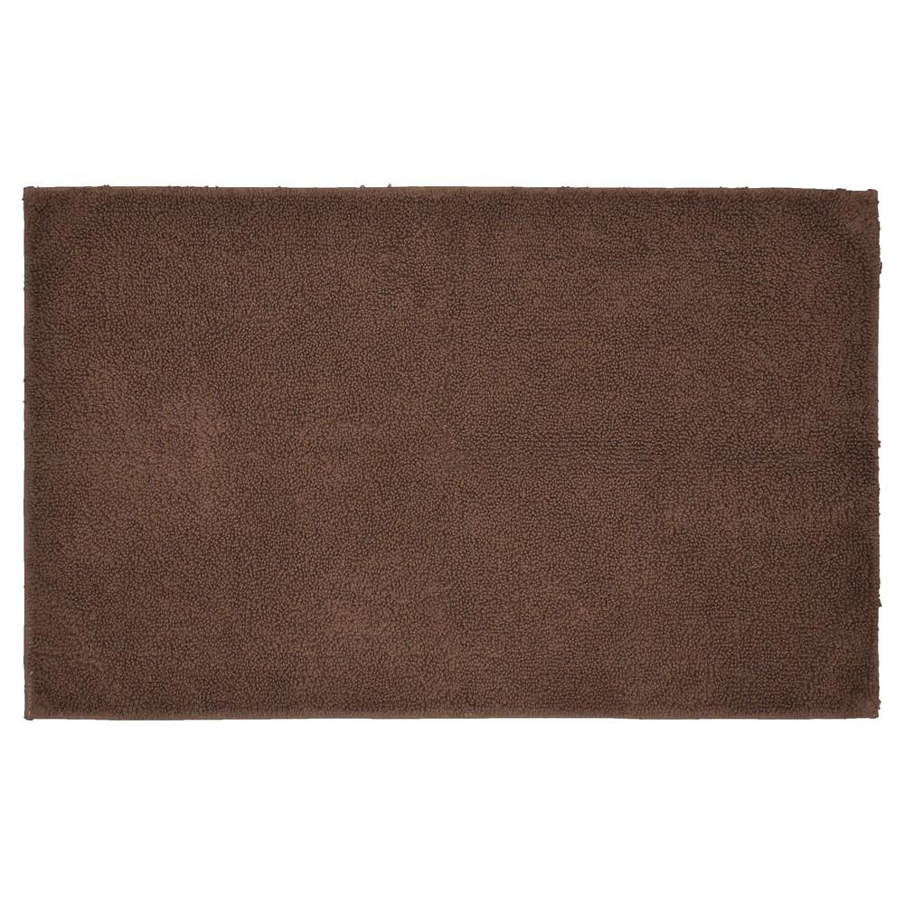 Garland Queen Cotton Washable Bath Rug - Chocolate (Brown) (24